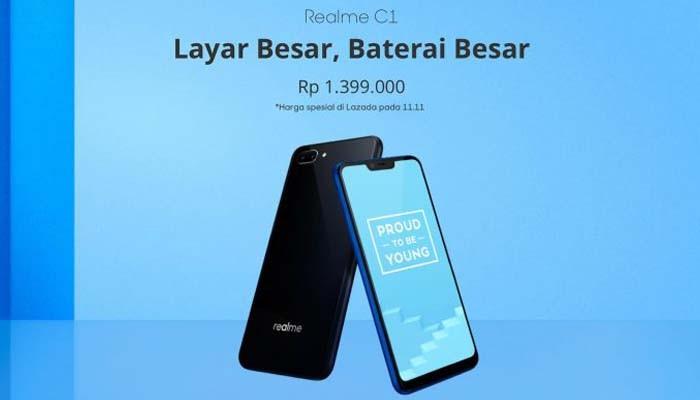 Meluncur di Indonesia Realme C1 dibekali Layar 6,2 Inci dan Baterai Besar