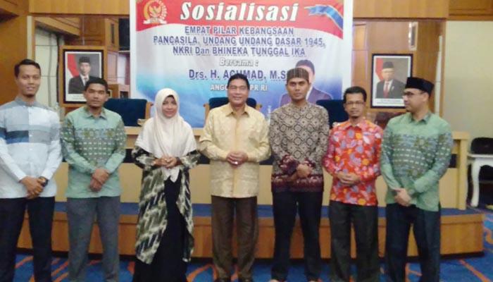 Anggota MPR/ DPR RI Achmad, Sosialisasi Empat Pilar Kebangsaan ke Mahasiswa