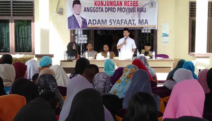 Adam Safaat Reses di Suka Damai, Siap Perjuangkan Pembangunan Rohul Melalui DPRD Riau