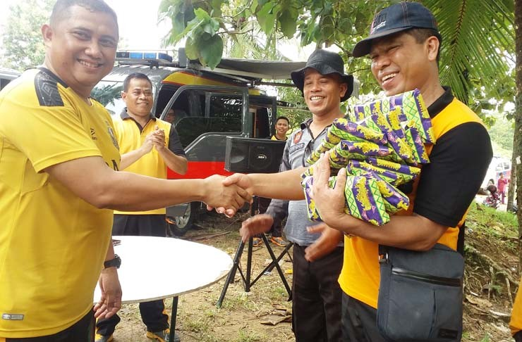Polres Rohul Gelar Family Gathering di Objek Wisata Sipogas