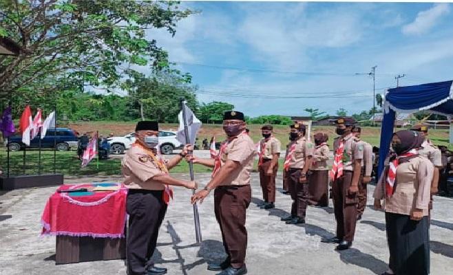 Ibnu Ulya lantik Pengurus Pramuka Peduli dan Media Center Kwarcab Rohul