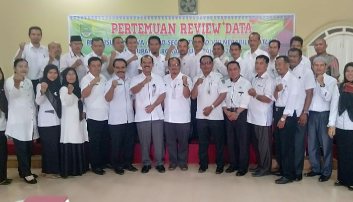 KPP Rohul taja Rakor Review dan Penyusunan Peta Food Security and Vulnerability