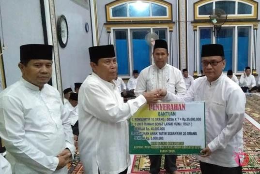 Safari Ramadhan di Bonai Darussalam, Bupati Sukiman Pesan : Masyarakat Jaga Rasa Kegotong royongan