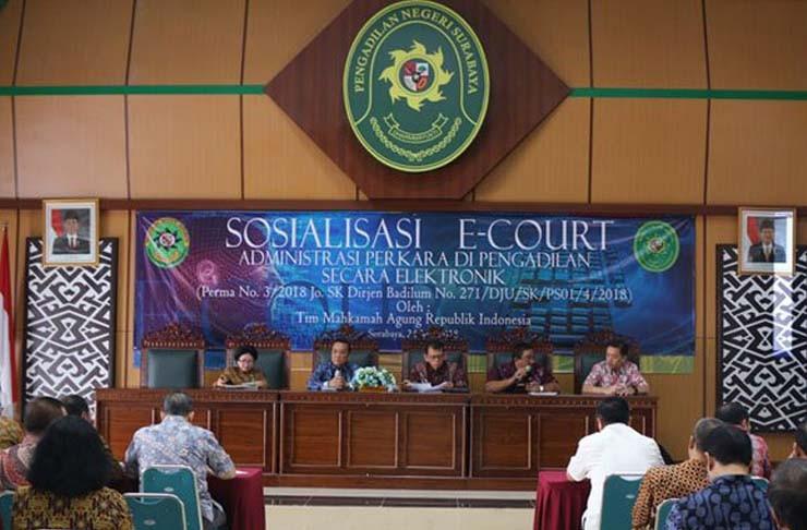 Resmi gunakan e-Court, PN Pasir Pangaraian Sosialisasi Advokat Se Rohul
