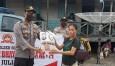 Polsek Bonai Salurkan Sembako untuk Warga Sontang Terdampak COVID 19