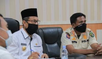 Pjs Bupati Rohul Masrul Kasmy Ikuti Rakor Virtual Anev Pilkada Bersama Mendagri