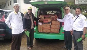 Baznas Rohul Salurkan bantuan sembako untuk korban banjir di Bonai