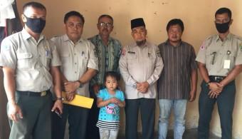 Kalaksa BPBD Rohul Salurkan Bantuan Bocah Korban Penganiayaan di Rohul