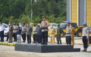 H. Sukiman, Hadiri Apel Pergeseran Personel Pengamanan TPS di Pilkada Rohul 2020