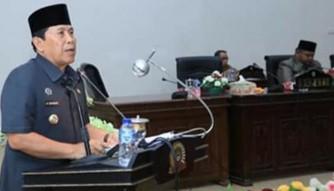 Bupati Sukiman Sampaikan RAPBD Rohul 2020 dan RTRW di Paripurna DPRD