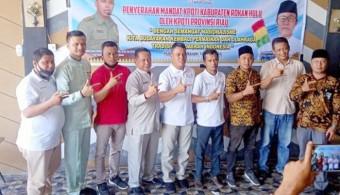 Terima Mandat, Ketua Tim Formatur Segera Bentuk Pengurus KPOTI Rohul