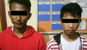 2 Orang Maling HP di Kota Tengah ditangkap Polisi Rohul