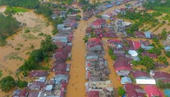 Banjir di Rokan Hulu, akses Jalan Lintas Riau-Sumut di Simpang Supra Terputus