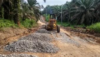 PUPR Rohul Perbaiki Jalan Lubuk Bendahara Timur-Pemandang