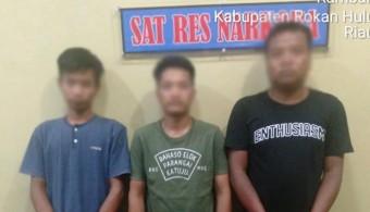 3 Pelaku Narkoba di Desa RTB Tak Berkutik Ditangkap Personel Satnarkoba Polres Rohul