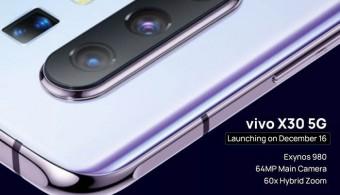 Spesifikasi Vivo X30 yang diProduksi 100 Ribu Unit per Hari